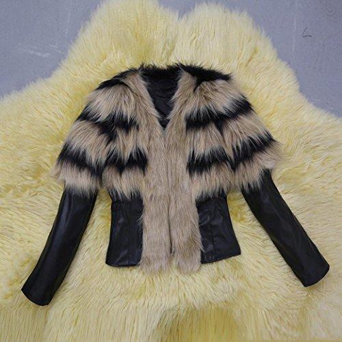 Le pelliccia donne parka Koly Outwear di collare rivestimento cuoio inverno della caldo di aZIqdq