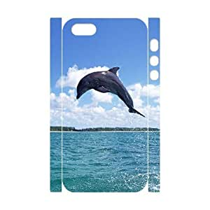 3D Bumper Plastic Customized Case Of Dolphin for iPhone 5,5S by icecream design