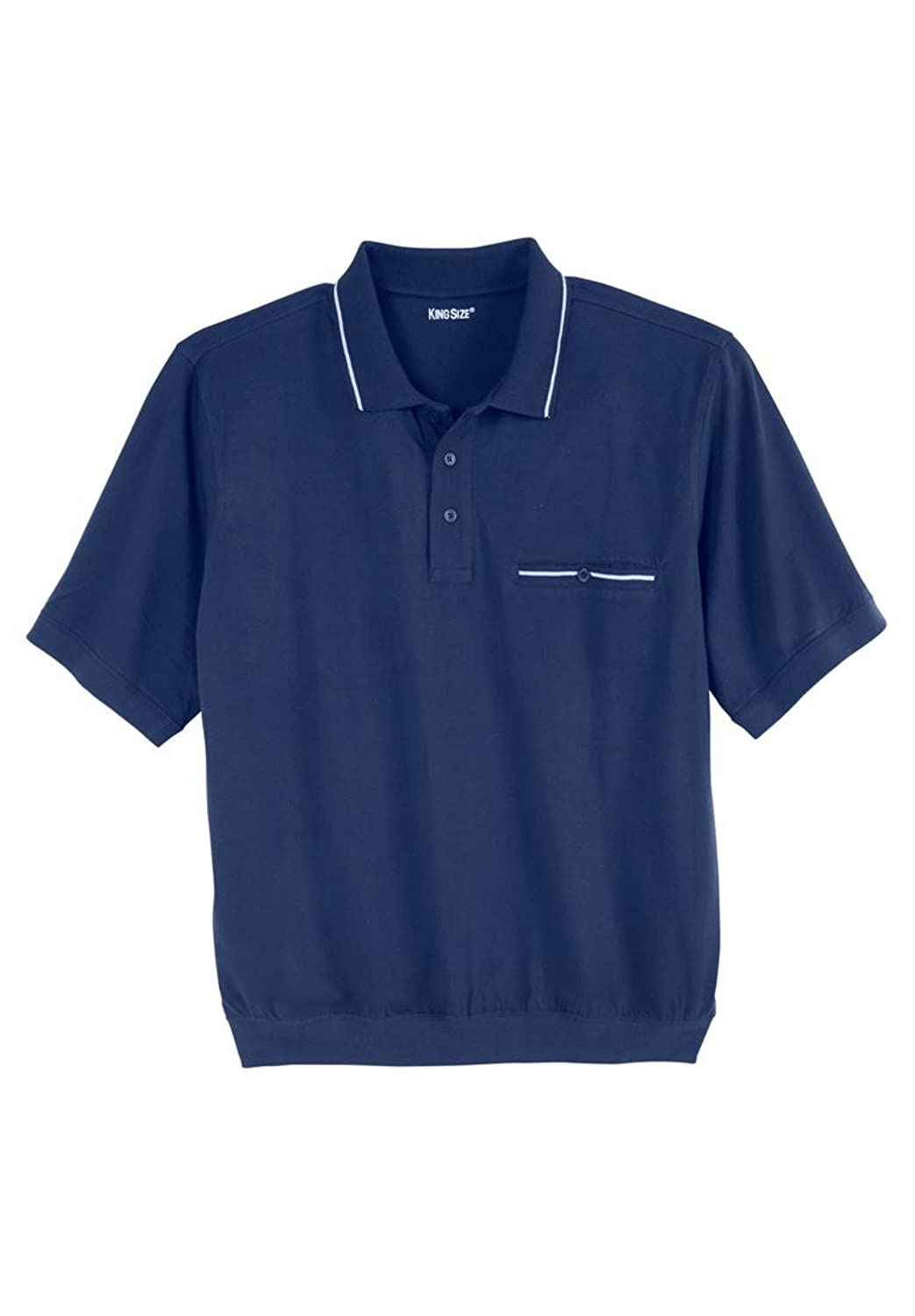 New Kingsize Men 39 S Big Tall Banded Bottom Tipped Polo