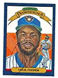 Cecil Cooper autographed Diamond King Donruss Baseball Card 1986 Milwaukee Brewers Ball Point Pen - Autographed Baseball Cards