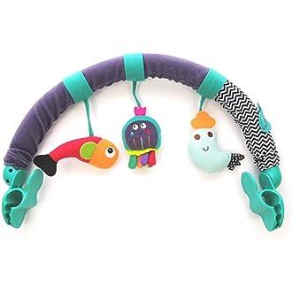 Kacniohen Infantil Espiral Wrap Around Actividad del Beb/é De Cuna Peluches Cama Conejo Cochecito Oso Traqueteos Colgantes