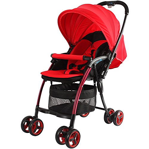 NANO Ultralight Stroller with Reversible Handle | Lightweight and Collapsible (Red)