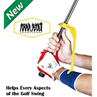 Golf Training Aid - Golf Swing Trainer and Warm Up Tool Accessory - Swing Guide - Swing Correcting Tool to Improve All Positions of The Swing Steps and Adjust Wrists in Simple and Effective Way