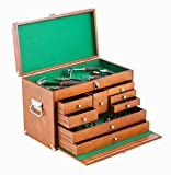 TRINITY TWM-3501 Wood Toolbox, Brown by Trinity