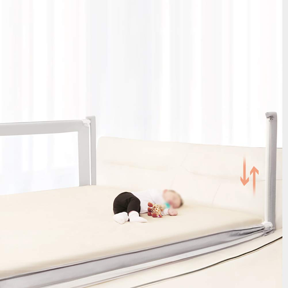 Bed Guardrail Adjustable Toddler, Vertical Lifting Bedside Anti Rollover Bed Rail for Full Size Queen, Extra Tall Portable (Size : 200cm) by Bed Guardrail (Image #4)