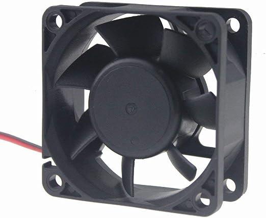 2/unidades 60/mm por 60/mm por 15/mm 6015/DC 12/V 0,10/A rodamiento de bolas sin escobillas Refrigeraci/ón Ventilador 2pin av-f6015mb UL TUV