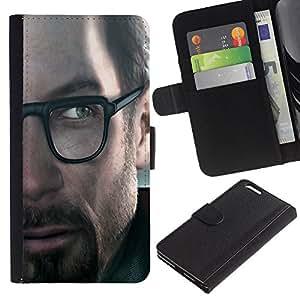 """JackGot ( G0Rdon Freeman - Juegos Hl"""" ) Apple (5.5 inches!!!) iPhone 6+ Plus / 6S+ Plus la tarjeta de Crédito Slots PU Funda de cuero Monedero caso cubierta de piel"""
