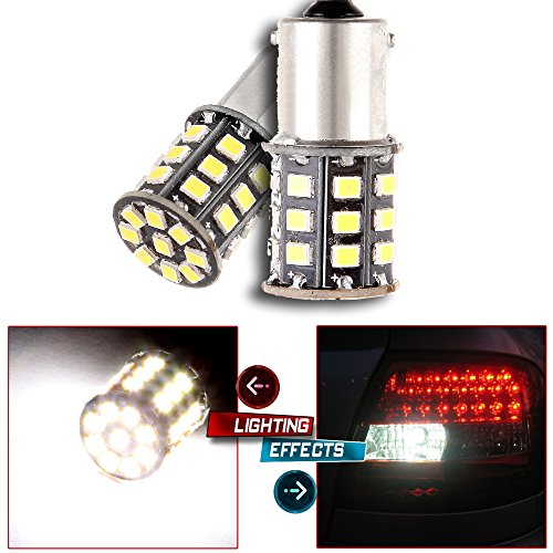 cciyu 2x Xenon White 800 Lumens LED Bulbs Super Bright 33-2835-SMD Chipsets 2057 2357 7528 BAY15d S25 Replacement fit for DRL Light Fit 2010-2013 Toyota 4Runner by CCIYU