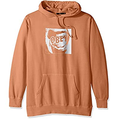 New OBEY Men's Screamer Basic Pullover Hood Fleece Sweatshirt for cheap