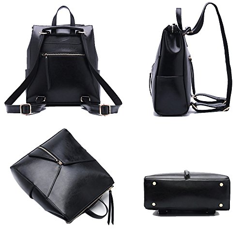 Fanmingsidi - Bolso mochila  para mujer marrón marrón blanco
