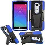 LG Leon Case / LG Power Case / LG Destiny Case , [ Storm Buy ] Premium Hard & Soft Sturdy Durable Shockproof Rugged Shell Hybrid Protective [ Anti Scratch ] Phone Case Cover with Built in Kickstand For LG Leon C40 (T-Mobile) / LG Power L22C (Staight Talk) / LG Destiny L21G Case (Blue)