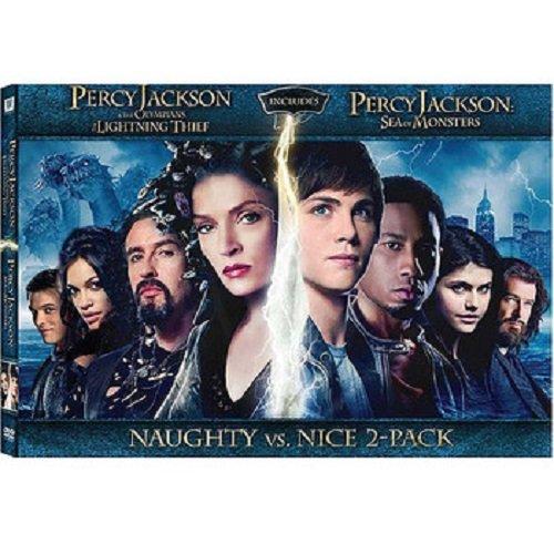 PERCY JACKSON Naughty VS. Nice 2-pack DVD Set (Both DVD Movies Togther - Lightning Thief and Sea of Monster) Logan Lerman (The Movie Lightning Thief)