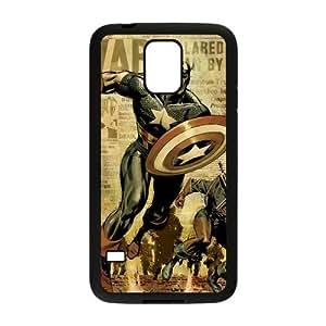 the Case Shop- Captain America Avengers Super Hero TPU Rubber Hard Back Case Silicone Cover Skin for SamSung Galaxy S5 I9600 , s5xq-634