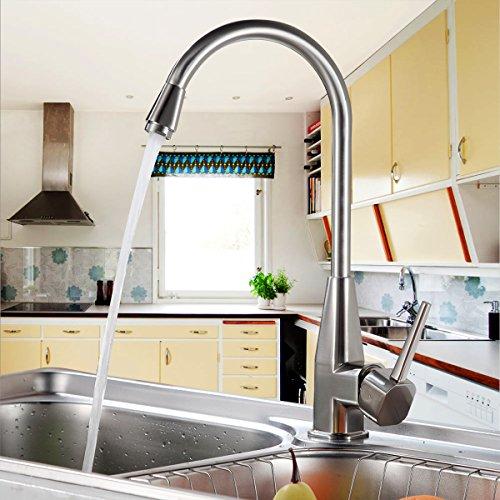 Auralum® Chrom Küchenarmatur Armatur Waschbecken Spüle für Küche Mischbatterie