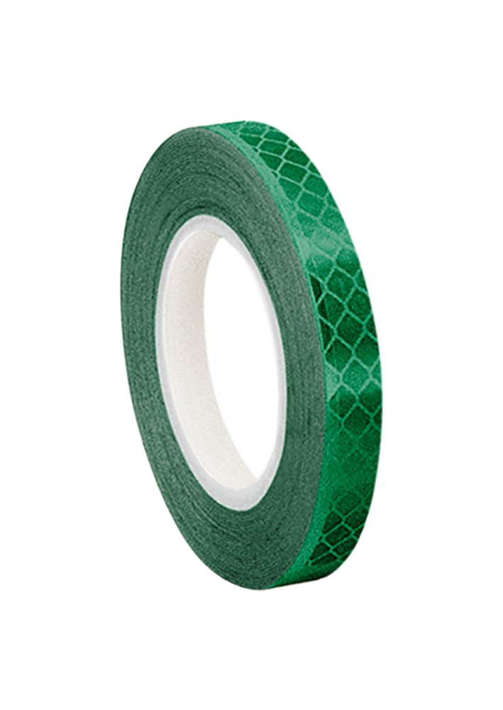 3M 3437 Green Micro Prismatic Sheeting Reflective Tape, 9.5mm X 4.6m (1 Roll) TapeCase 0.375-5-3437