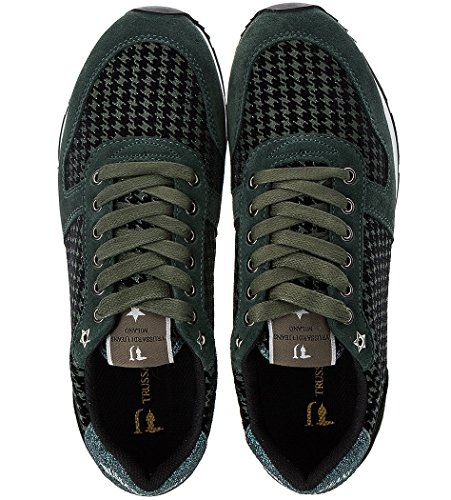 Jeans Pour Vert Femme Baskets Trussardi 1Odgw1