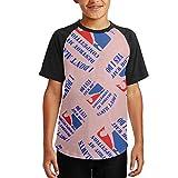 P0nh Shirt Smack Talk Cornhole Youth 3D Print Baseball T-Shirt Short Sleeve Round Neck Raglan Tops