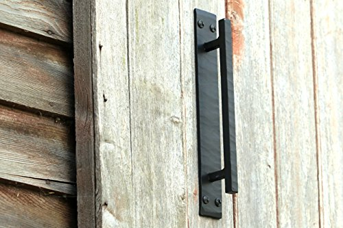 Forged Iron Door Pull (Barn Door Handles for Barn Door Hardware Black Door Pull Handle Rustic Door Pull Handle SLB)