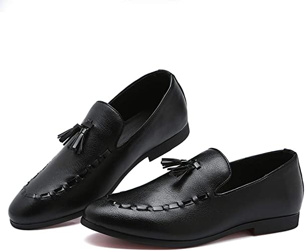 FLQL Mens Luxury Strap Buckle Loafer Casual Party Dancing Shoes Plus Size Weeding Shoes