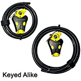Master Lock - Two Python Adjustable Cable Locks Keyed Alike, 1-6ft, 1-12ft, 8413KACBL-612