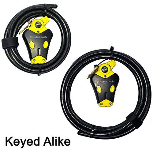 (Master Lock - Two Python Adjustable Cable Locks Keyed Alike, 1-6ft, 1-12ft, #8413KACBL-6-12)