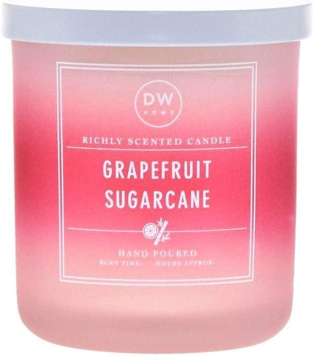 Richly Scented Grapefruit Sugarcane Candle in Variegated Votive Jar with Lid, 4 Oz.