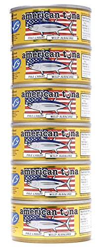 - American Tuna MSC Certified Sustainable Pole & Line Caught Albacore Tuna, 6oz Can w/Sea Salt, Caught & Canned in America (6 Pack)
