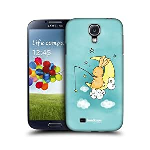 Star Fishing Bunny Design Back Case Cover For Samsung Galaxy S4 I9500