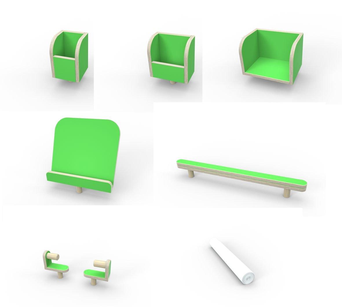 Puresup2; 'Set – Herramientas para la Mesa Growing Table Posición – Verde Revestimiento