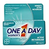 One A Day Womens Active Metabolism Tablets - 50 per pack -- 24 packs per case.