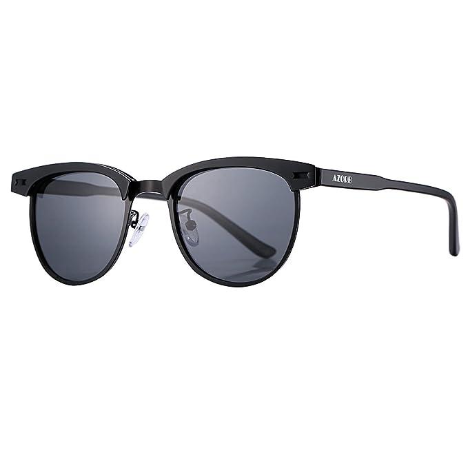 68bd15f775 Amazon.com  Semi Rimless Polarized Sunglasses for Men Women AZORB ...