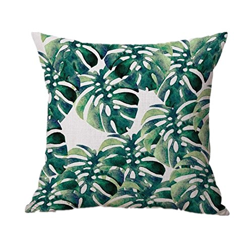 ana Leaf Sofa Bed Festival Pillowcase Cushion Cover (D) ()