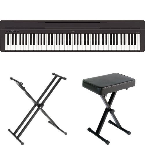 Yamaha P45B Digital Piano with Yamaha Stand and Bench by Yamaha (Image #1)