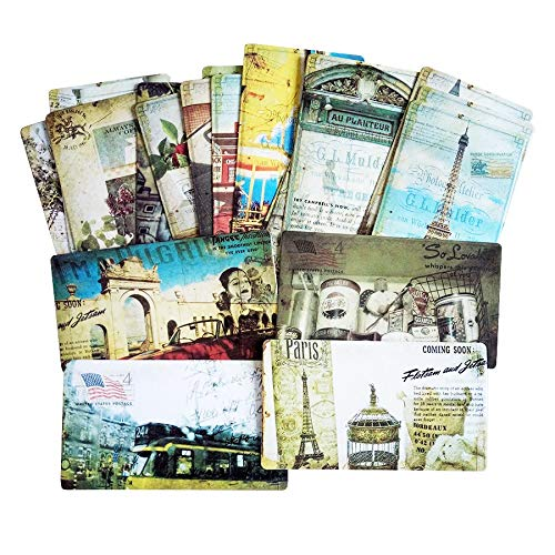 IronFizz897 Romantic Card 1Pack/Lot Vintage Romantic Post Card Classic Paris Card Set Memory Postcards Can Be Mailed Greeting Card Office&School Supplie (Mini Artifice Playing Cards)