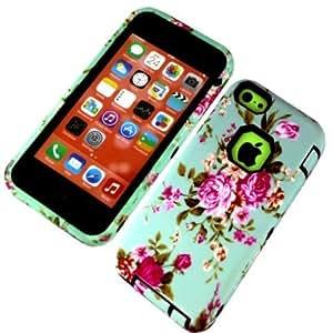 iPhone 5C,iPhone 5c case,Tiancase Luxury 3 in 1 Hybrid case for 5C(iPhone)
