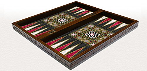 19 inch MOTHER OF PEARL Turkish BACKGAMMON SET