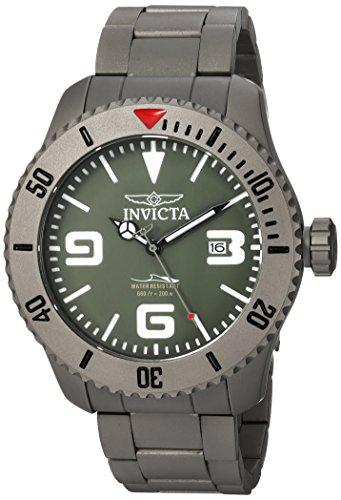 Invicta Men's 'Pro Diver' Automatic Titanium Diving Watch, Color:Silver-Toned (Model: 23126) (Titanium Diving Watch)