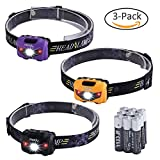 led headlamp kids - Miady LED Headlamps, 160 Lumen CREE LED + Red Light, Waterproof, Lightweight, AAA Batteries Included - 3 Pack