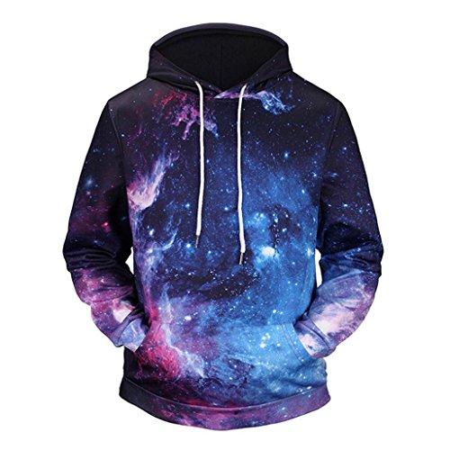 Ultimate Cotton Garment (Men Coat Among 3D Print Hoodie Jacket Fashion Hooded Sweatshirt Tops Blouse Long Sleeve Outwear (XL, Multicolor))