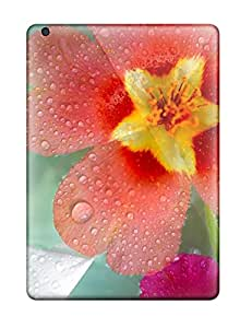 Waterdrop Snap-on Water Droplets On Flowers Case For Ipad Air