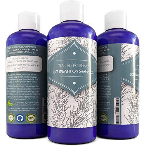 UPC 806810287224, Head Lice Treatment Shampoo - Tea Tree & Rosemary Lice Removal Hair Care for Men & Women Anti-Lice Essential Oils Prevent Lice - Relieve Itchy Scalp - Moisturizing Anti-Dandruff Shampoo for Dry Hair