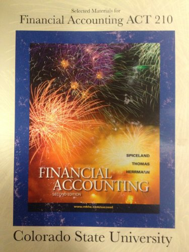 Finacial Accounting ACT 210_ Colorado State University Edition