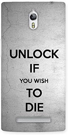 Premium Finish Unlock Warning Back Case Cover for Oppo