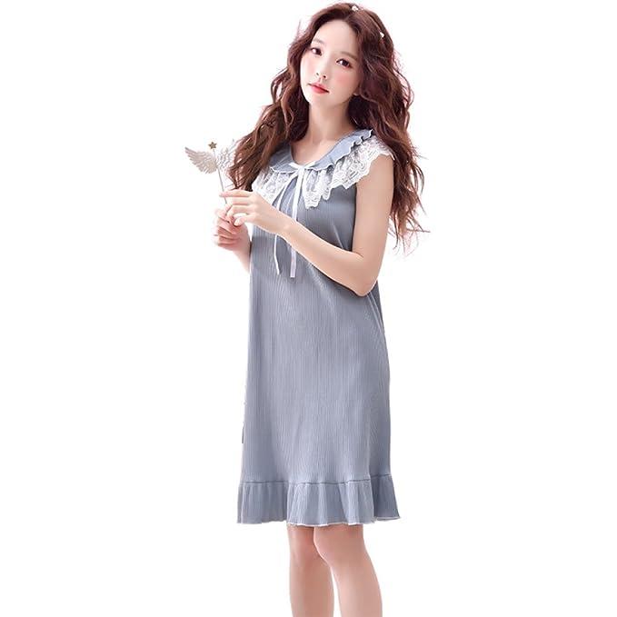 Vestido De Noche Suelto Sin Mangas para Mujer Vestido De Pijama De Verano con Dulce Princesa