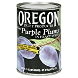 Oregon Fruit Purple Plums, 15-ounces (Pack of8)