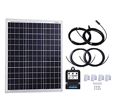 Komaes 10 Watts 12 Volts Polycrystalline Solar panel Kit