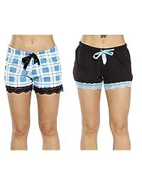 Just Love Womans Pijamas Cortos Pijamas de–Pjs–(Pack de 2)