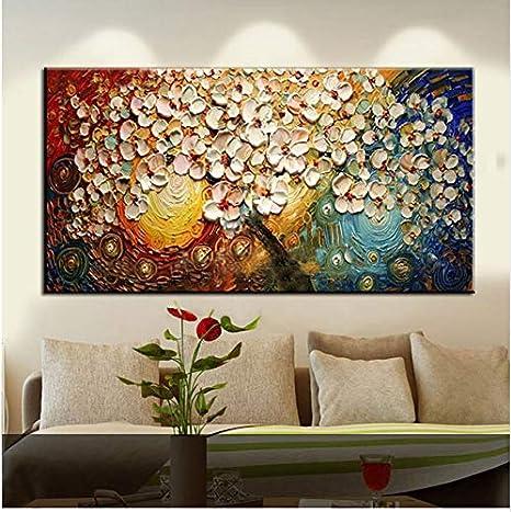 /Ölgem/älde Auf Leinwand Handgemalt,Reine Handbemalte Rosa Rot Gold B/äume Abstrakte Landschaft Art /Ölgem/älde Foto Auf Leinwand Wand Kunst Gem/älde F/ür Cafe Nordic Moderne Wohnkultur 50 X 70 Cm 2