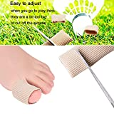 5 Pieces Gel Toe Protectors, Fabric and Silicone