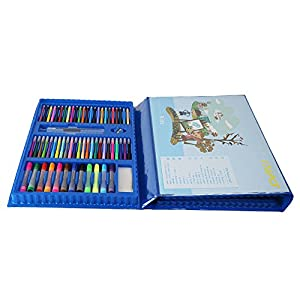 Painting & Drawing Set Painting Color Pen Paint Set 176 Pieces of Children's Art Easel Painting Supplies Watercolor Pens